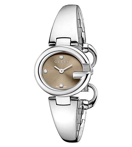 GUCCI Guccissima bracelet watch YA134506