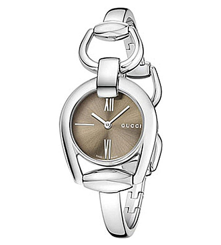 GUCCI ya139501 Horsebit stainless steel bracelet watch