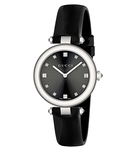 GUCCI YA141403 Diamantissima stainless steel watch (Black