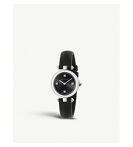 GUCCI YA141506 Diamantissima 不锈钢腕表 (黑色