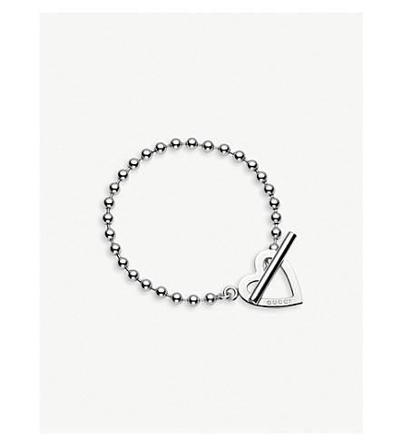 GUCCI Toggle heart loose link bracelet (Silver