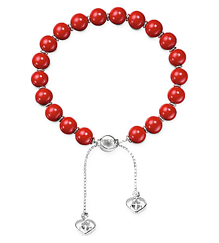 GUCCI Boule Britt San Valentino bead bracelet (Stainless+steel