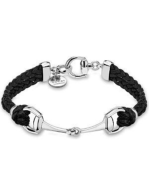 GUCCI Horsebit leather bracelet