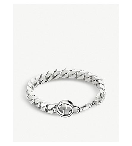 GUCCI Interlocking G sterling silver bracelet (Silver