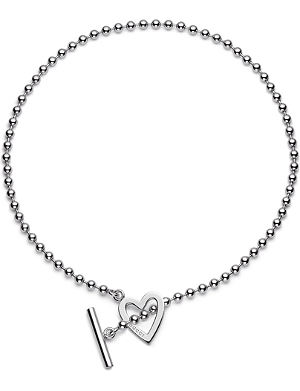 GUCCI Heart-motif sterling silver necklace