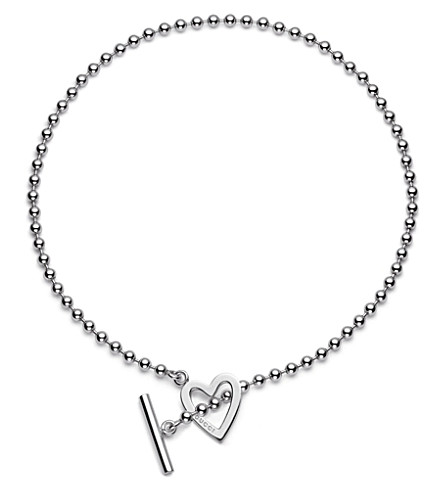 GUCCI Heart-motif sterling silver necklace (Silver