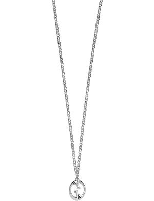 GUCCI Double G sterling silver necklace