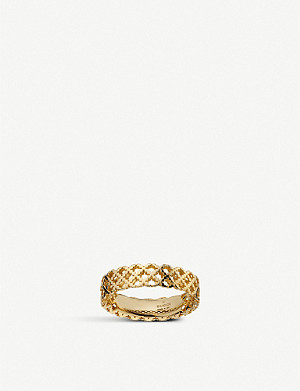 GUCCI Motif 18ct yellow-gold ring