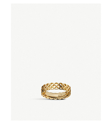 GUCCI Motif 18ct yellow-gold ring (Yellow+gold