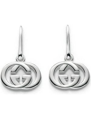 GUCCI GG 18ct silver drop earrings