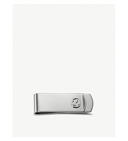 GUCCI Interlocking G sterling silver tie clip (Silver