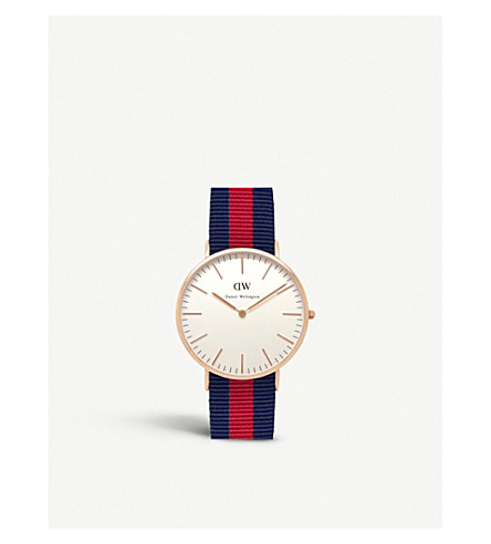 DANIEL WELLINGTON 0101DW 经典牛津手表 (白色