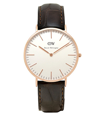 DANIEL WELLINGTON 0111DW Classic York watch (White