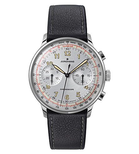 JUNGHANS 027/3380.00 Meister Telemeter stainless steel watch (Silver