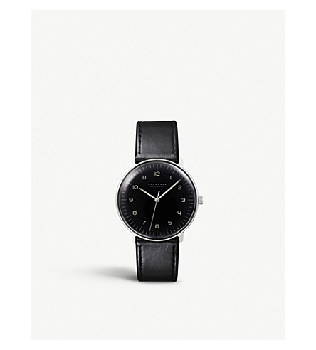 JUNGHANS 027/3400.00 Max Bill stainless steel watch (Black