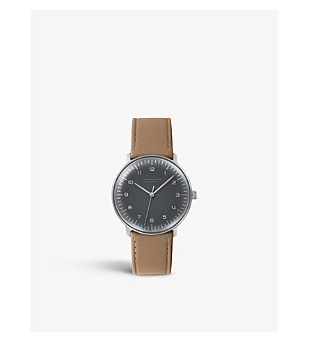 JUNGHANS 027/3401.00 Max Bill stainless steel watch (Grey