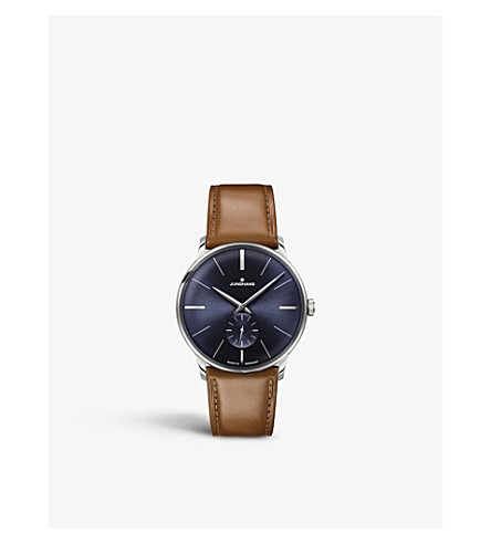 JUNGHANS 027/3504.00 Meister stainless steel and leather watch (Blue
