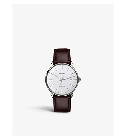 JUNGHANS 027/4310.00 meister classic stainless steel and leather watch (Silver