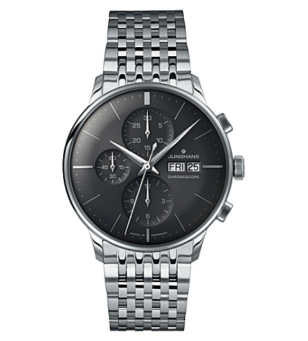 JUNGHANS 027/4324.45 meister chronoscope steel watch (Grey