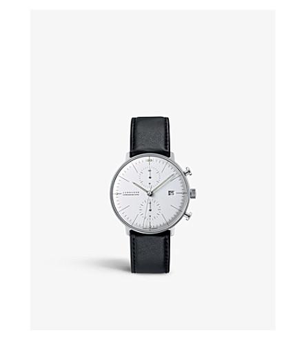 JUNGHANS 027/4600.00 最大比尔 chronoscope 不锈钢皮表带腕表 (银