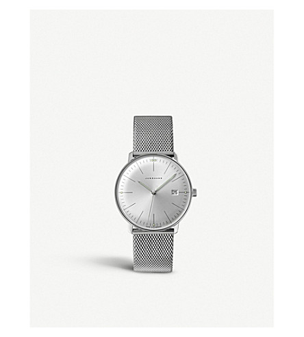 JUNGHANS 041/4463.44 Max Bill stainless steel quartz watch (Silver