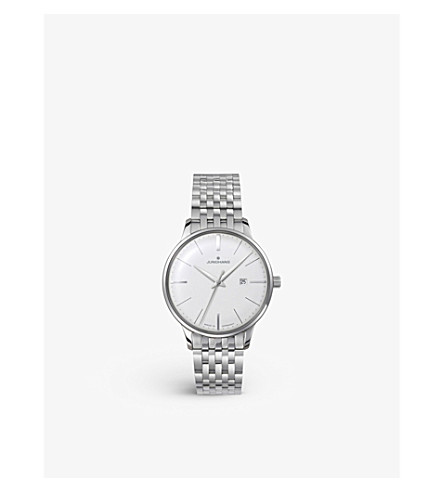 JUNGHANS 047/4372.44 Meister stainless steel quartz watch (Silver