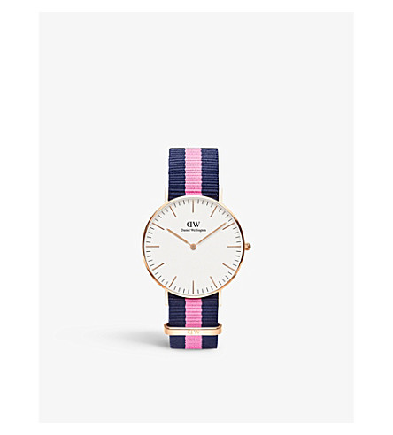 DANIEL WELLINGTON 0502DW 经典坎特伯雷女士手表 (白色
