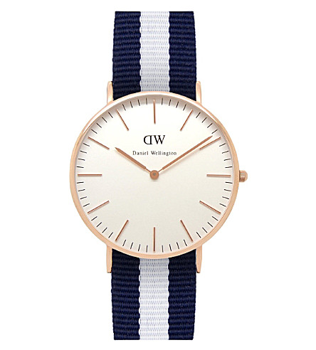 DANIEL WELLINGTON 0503DW 经典格拉斯哥女士手表 (白色
