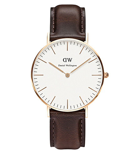 DANIEL WELLINGTON 0511dw stainless steel and leather watch