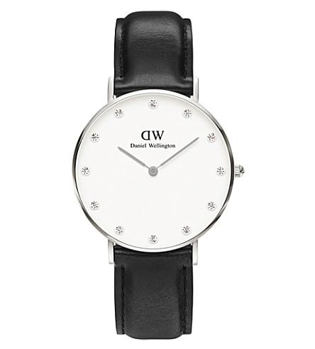 DANIEL WELLINGTON 0961DW St 圣莫斯不锈钢皮表带腕表 (白色