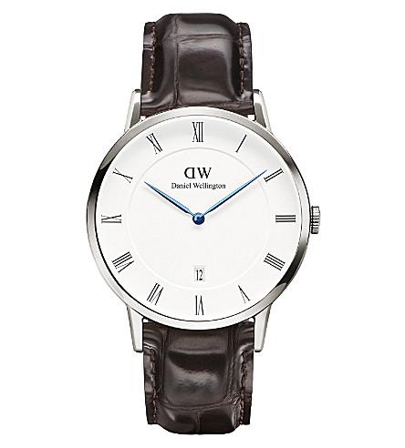 DANIEL WELLINGTON 1122DW Dapper York silver and leather watch (White