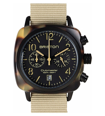 BRISTON Clubmaster HMS watch (Black