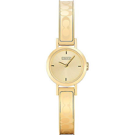 COACH 14501439 Studio gold-toned watch (Champagne