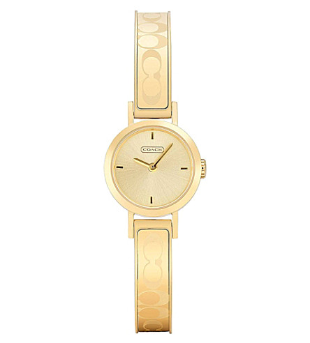 COACH 14501439 Studio gold-toned watch (Champagne