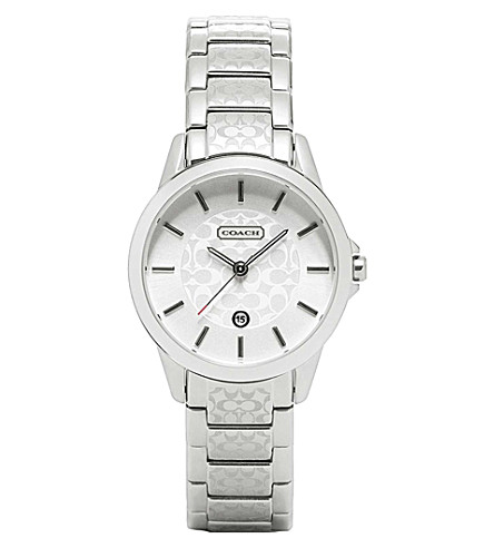 COACH 14501609 Classic Signature stainless steel watch (Silver