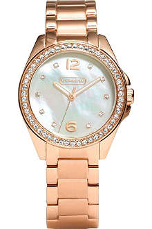 COACH 14501658 Tristen rose gold-toned watch