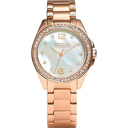 COACH 14501658 Tristen rose gold-toned watch (Peal
