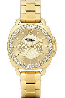 COACH 14501700 Boyfriend small gold-toned watch