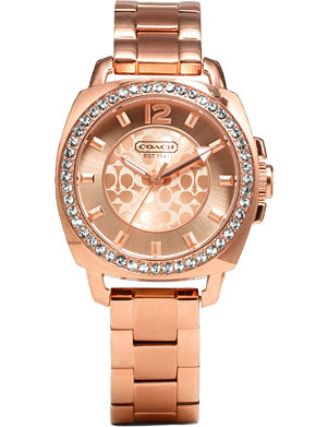 COACH 14501701 Boyfriend rose gold-toned watch