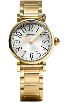 COACH 14501720 Madison gold-toned stainless steel watch