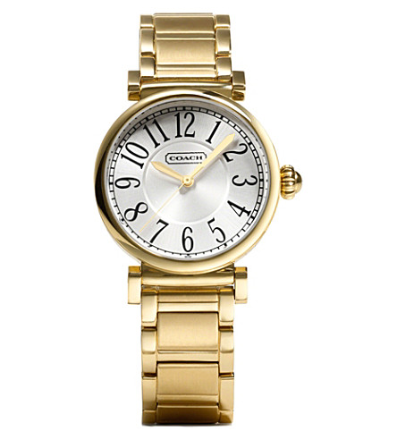 COACH 14501720 Madison gold-toned stainless steel watch (Peal