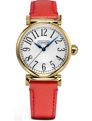 COACH 14501729 Madison gold-toned stainless steel watch