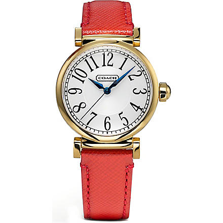 COACH 14501729 Madison gold-toned stainless steel watch (Peal