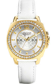 COACH Boyfriend 14501790 gold-toned watch