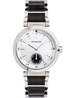 COACH 14502033 1941 Sport stainless steel and leather watch