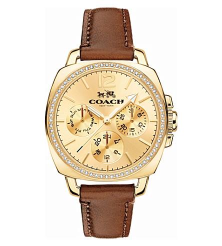 COACH 14502172 boyfriend leather watch