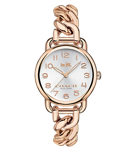 COACH 14502255 Delancey rose gold-plated watch