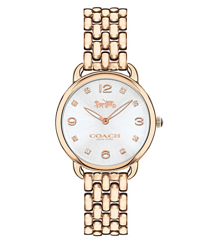 COACH 14502783 Delancey Slim rose gold-plated watch
