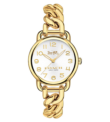 COACH 14502801 Delancey Slim gold-plated watch