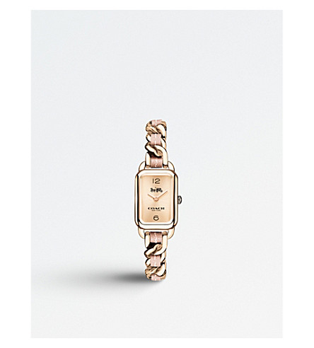 COACH 14502844 Ludlow gold-plated stainless steel quartz movement